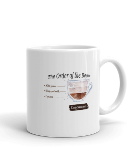 The Order of the Bean Cappuccino Mug