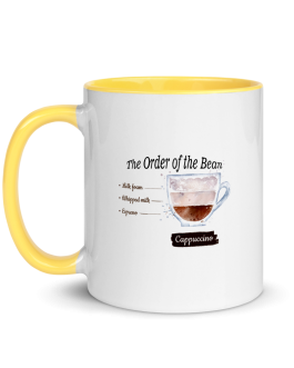 The Order of the Bean Cappuccino Mug with Color Inside