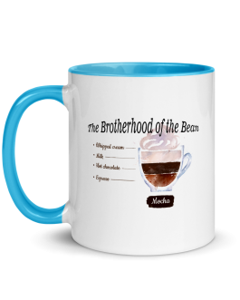 """The Brotherhood of the Bean"" Mocha Mug with Color Inside"
