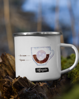 Order of the Bean (Affogato) – Enamel Mug