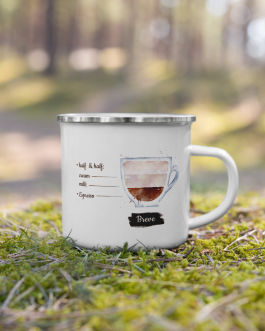 Order of the Bean ( Breve ) Recipe – Enamel Mug