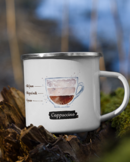 Order of the Bean ( Cappuccino ) Recipe – Enamel Mug